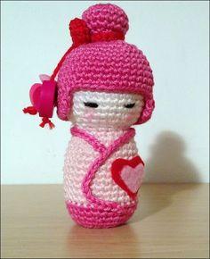 Pink Kokeshi Amigurumi pattern by Ana Artedetei : Ravelry: Pink Kokeshi Amigurumi FREE pattern by Ana Artedetei. Octopus Crochet Pattern, Crochet Dolls Free Patterns, Amigurumi Patterns, Doll Patterns, Cute Crochet, Crochet For Kids, Crochet Crafts, Crochet Projects, Crochet Flower