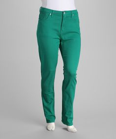 Take a look at this Jade Green Stretch Plus-Size Skinny Jeans by VIP Jeans on #zulily today!