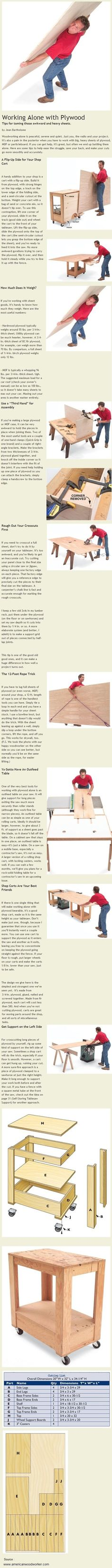 Working Alone with Plywood- Doug you need this