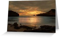 DIamond bay Sorrento at sunset - my favourite beach as captured by red bubble.com also displays the greys and golds in the leggings