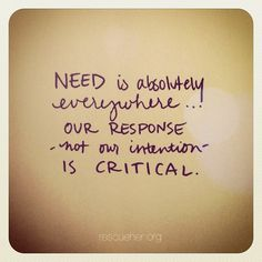 response, not intention is critical via rescueher