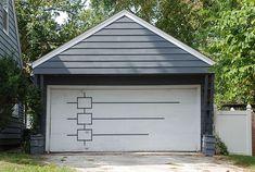 Mid century modern garage door design