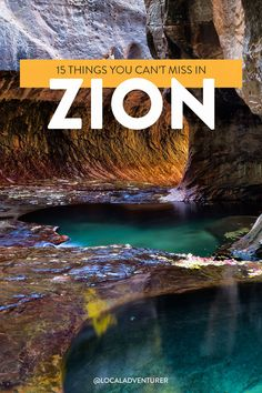 Looking for the coolest things to do in Zion National Park? These are the spots you shouldn't miss on your first visit and tips to help you avoid the crowds and make the most of your trip // Local Adventurer #zion #zionnp #zionnationalpark #localadventurer #utah #visitutah #utahfromhome #findyourpark