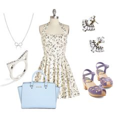A fashion look from March 2015 featuring white halter dress, peep-toe shoes and shoulder handbags. Browse and shop related looks. Shoe Bag, Polyvore, Stuff To Buy, Accessories, Shopping, Collection, Design, Women, Fashion