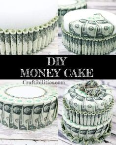 New Pictures Birthday gift idea - DIY MONEY CAKE - How to make tutorial - Creative way to giv. Style when getting unique wedding gifts for newlyweds, specific presents that may be stored for a long ti Money Birthday Cake, Money Cake, Birthday Gifts, Birthday Souvenir, Diy Birthday, 16th Birthday, Best Graduation Gifts, Grad Gifts, Graduation Parties