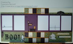 CTMH Moonlight BOO Layout by cass768 - Cards and Paper Crafts at Splitcoaststampers