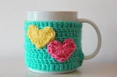 Crochet cup cosy crochet mug cosy Easter mug cosy by AnaisandAiyla Crochet Coffee Cozy, Crochet Cozy, Crochet Yarn, Crochet Bookmark Pattern, Crochet Bookmarks, Crochet Designs, Crochet Patterns, Mug Cozy Pattern, Crochet Furniture