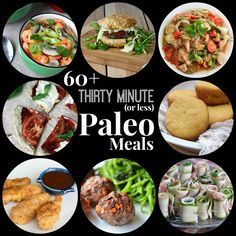 Thirty Minute (or less) Paleo Meals - Having a few go-to 30 minute meals is key to staying on track. I have gathered the few on my site, - Primal Recipes, Whole Food Recipes, Diet Recipes, Cooking Recipes, Healthy Recipes, Paleo Food, Easy Paleo Meals, Stupid Easy Paleo, Paleo Cookbook