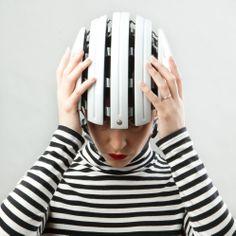 Carrera foldable cycling helmet - gloss white | Cyclechic | Cyclechic £59.99