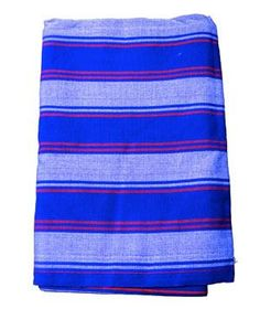 Blue Masaai Blanket: Beaming shades, big surface area, and the proceeds help support the positive growth of the Kenyan communities where they are produced.