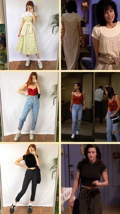 Monica outfit inspo You are in the right place about friends outfits hipster Rachel Green Outfits, Rachel Green Costumes, Rachel Green Style, Clueless Outfits, Tv Show Outfits, Fashion 90s, Fashion Looks, Fashion Outfits, Hippie Fashion