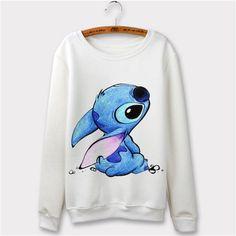 Kawaii Print Women Sweatshirts Casual Pullover Sweatshirt Harajuku Friends