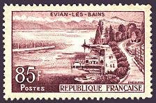 France Stamp - Yvert et Tellier N° 1193 Evian les bains