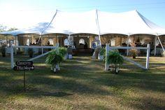 Entrance to Tent Reception at Squires' Farm - SquiresFarmWeddings