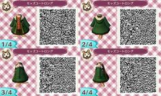 Green fur jacket w/ shirt and skirt: ACNL QR clothes