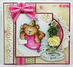 Het kaartenhoekje van Gretha: Cuddly Buddly 'Bear Mail'- LOVE this cute bear image!