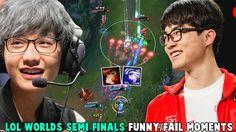 LOL WORLDS SEMI FINALS FUNNY/FAIL MOMENTS - 2016 League of Legends
