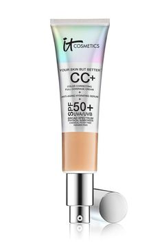 it Cosmetics Your Skin But Better™ CC Cream with SPF 50 IT's truly your skin but better! ® Full Coverage Color Correcting Cream, Anti-Aging serum, plus Broad Spectrum Physical Only SPF 50 all in one! Top Skin Care Products, Best Face Products, Beauty Products, Beauty Tips, Beauty Secrets, Beauty Essentials, Beauty Hacks, Beauty Bar, Shopping