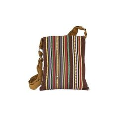 NOVICA Indian Handmade Multicolor Cotton Cross-Body Handbag ($28) ❤ liked on Polyvore featuring bags, handbags, shoulder bags, accessories, clothing & accessories, slings, crossbody hand bags, purse crossbody, sling purse and crossbody purse