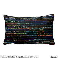 Westover Hills Text Design I Lumbar Pillow