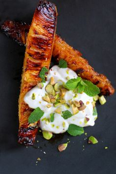Roasted pineapple with honey and pistachios. - Dinner by Heston, Vietnamese culture
