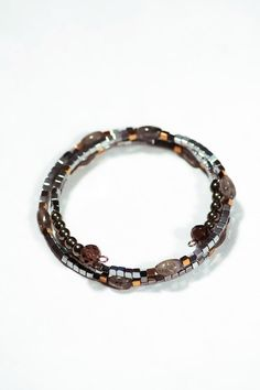 Memory Coil Bracelet made from Hematite by OurSerendipityStones