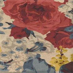 This fabric has a 3 yard minimum.Monterossa Document is a beautiful floral printed drapery fabric. An assortment of roses in…