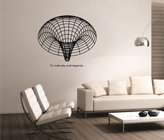 Black hole Wall Decal To infinity & beyond design Mural interior design Science Education Art astronomy  space  wormhole education vinyl by StateOfTheWall on Etsy https://www.etsy.com/listing/224767223/black-hole-wall-decal-to-infinity-beyond
