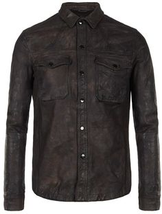 Ruin Leather Shirt - Lyst