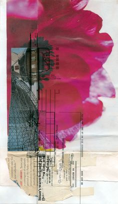 antitext - incomplete reception,2002. #collage on paper, 15.6 cm x 27 cm