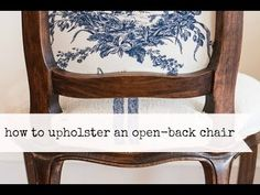 7 Good Cool Tricks: Upholstery Diy Chair upholstery tutorial little green notebook. Painting Fabric Chairs, Chair Fabric, Diy Pallet Furniture, Furniture Makeover, Furniture Ideas, Dresser Makeovers, Furniture Refinishing, Furniture Design, French Style Chairs