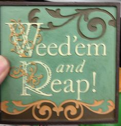 Cute garden sign at Ace Hardware for your Indianapolis garden Garden Crafts, Garden Projects, Projects To Try, Diy Crafts, Garden Ideas, Backyard Ideas, Garden Works, Garden Junk, Garden Cottage