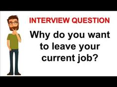 Why Do You Want To Leave Your Current Job Interview Question #jobs