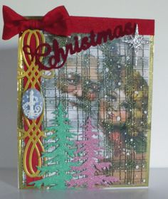 Santa's Christmas Collage Card
