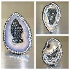 The New Gorgeous Agate Rings with Marcasites