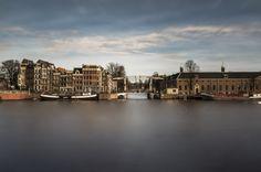 #Amsterdam #river #Amstel #drawbridge #hermitage #longexposure #maximg-photography #canon #netherlands Long Exposure, Netherlands, Amsterdam, New York Skyline, Canon, River, Photography, The Nederlands, The Netherlands