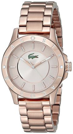 Lacoste Women's 2000851 Madeira Rose Gold-Tone Stainless Steel Watch *** Be sure to check out this awesome watch.