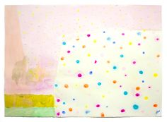 """""""snow cone splat"""" by Ashely Peifer. Acrylic, gouache, and latex on paper."""