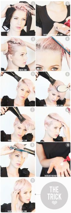 Hair Style DIY Short Hair Styling