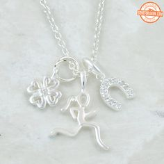 Our Lucky Runner necklace makes a great gift for any female runner.