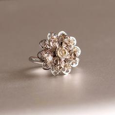 Vintage Rhinestone Ring by Sarah Coventry