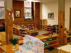 Keystone Montessori...I like how they put wood on the lower half of the pillars.