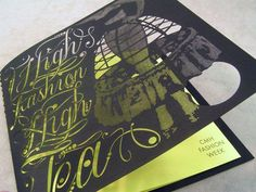 Print: Impressive laser cut invitation card for CMH fashion event. Laser Cutting Shapes in Cbus Ohio Laser Cut Invitation, Invitation Cards, Invitations, Laser Cutting Service, Print Design, Shapes, Crafty, Ohio, Ideas