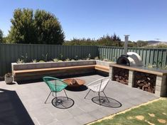 Beautiful outdoor area in Perth, WA, featuring the Alfresco Factory Traditional Midi wood fired oven. Outdoor Bbq Kitchen, Pizza Oven Outdoor, Outdoor Kitchen Design, Outdoor Kitchens, Outdoor Living Rooms, Outdoor Dining, Outdoor Decor, Outdoor Spaces, Living Spaces