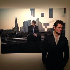 Last night at the private viewing of the 'Mr Detective Man' exhibit by Rich Hardcastle Photography at Mead Carney Gallery