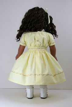 Yellow 1850s Work Dress for American Girl style by WildFishy