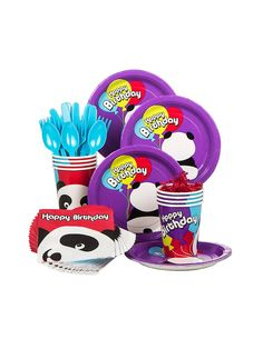 Birthday Panda Standard Kit (Serves 8)! See more birthday party planning ideas at BirthdayinaBox.com!