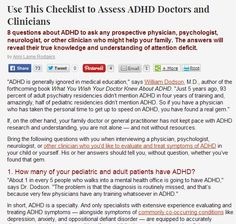 Choosing a Doctor for ADHD Diagnosis and Treatment