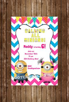 New to DotcaShop on Etsy: Printed | Minion double birthday Economy shipping (28.34 CAD)
