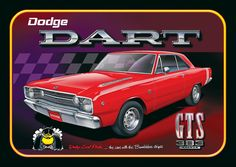"""Install some Mopar muscle anywhere with this 30-gauge steel sign, depicting the classic Dodge Dart! Pre-drilled for display. 18"""" x 12"""". Made in the USA."""
